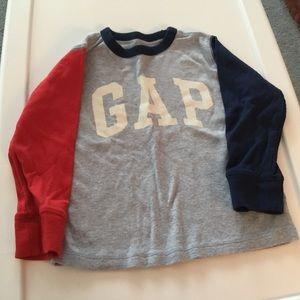 Gap Boys Long Sleeve Heather Blue Shirt. Size 4Yrs
